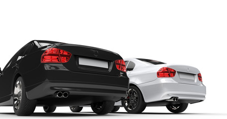 Black And White Cars Taillights