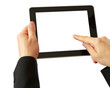 digital tablet in hands