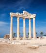 Temple of Apollo ruins in Side Turkey.