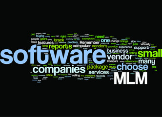 MLM Software concept