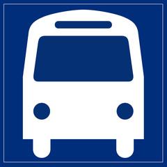 Schild blau - Bus
