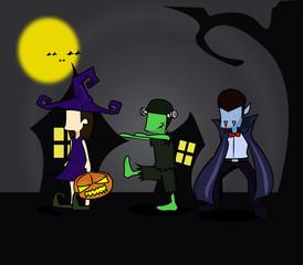 Halloween trick or trick