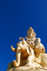 Golden Buddha and eleventh of Emei in Sichuan, China.