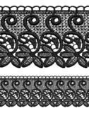 Black openwork lace seamless border. poster