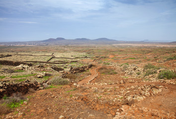 Northern Fuerteventura, walking path