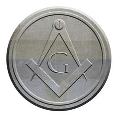 Mason symbol carved in stone