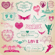 Scrapbook Design Elements - Valentine's Day Love Set