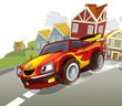 Teh sports car - illustration for the children