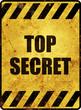 Top Secret Schild