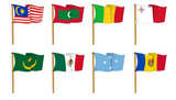 Hand-drawn Flags of the World - letter M