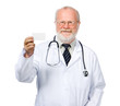 medical doctor  with a card