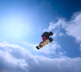 The snowboarder in the sky
