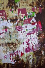 Papier, affiche, vandalisme, déchiré, publicité, mur