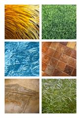 Fond, texture, herbe, eau, pierre, mur, liquide, nature