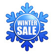 winter sale snowflake label