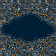 Social Media Cloud. Vector Seamless Pattern