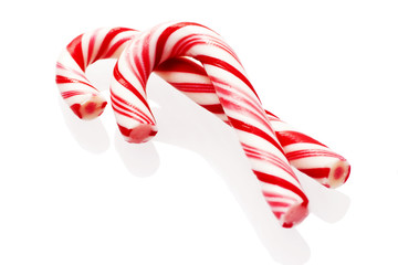 Traditional christmas candy isolated on white background