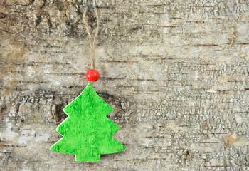 Kleine Weihnachtsbaum aus Holz