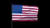 America Flag Waving, Seamless Loop