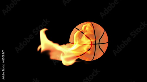 Basketbal on Fire with Alpha