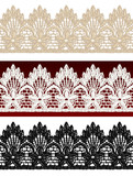 Openwork lace seamless border. poster