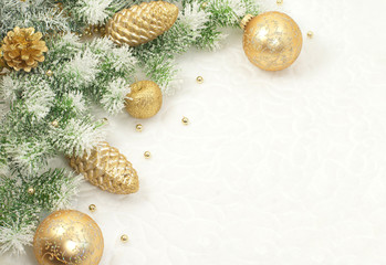 Christmas composition for greeting card .