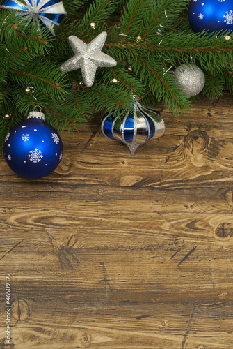 Christmas composition for greeting card