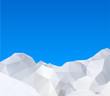 Abstract winter mountains, vector illustration