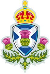 Scottish thistle .Badge of Scotland