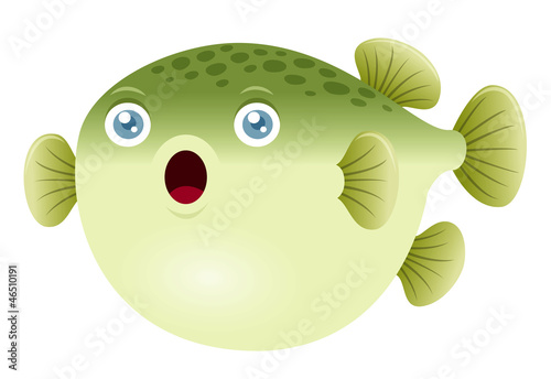 Illustration of a puffer fish