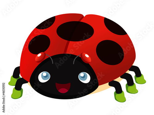 illustration of Ladybug cartoon