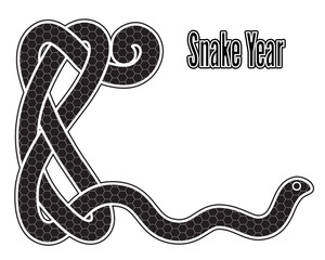 Snake year card, Chinese zodiac symbol 2013