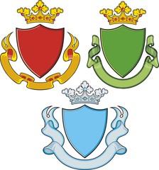 Heraldic shield ribbons crown  and sword
