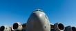 Leinwanddruck Bild - American C-17 Globemaster jet transport airplane