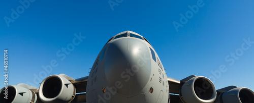 Leinwanddruck Bild American C-17 Globemaster jet transport airplane