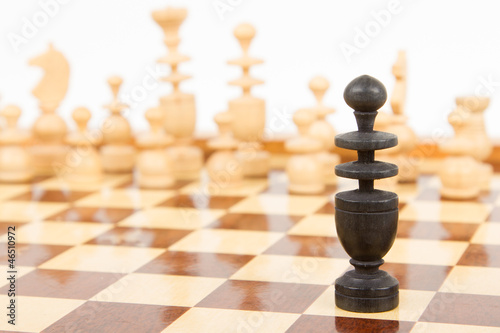 Black chess bishop isolated