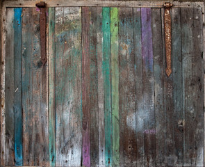 The old wooden colored shutter