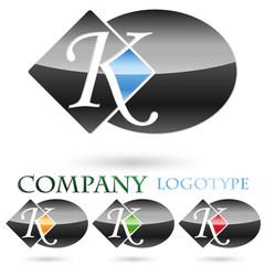 Logo initial letter K # Vector