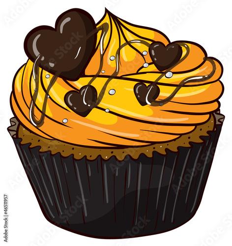 马芬蛋糕手绘图