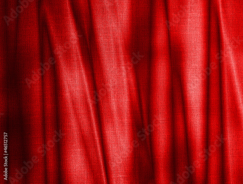 folds on red canvas