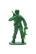 白背景に兵士の玩具の背中