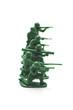 白背景に複数の兵士の玩具