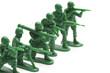 並んで銃をかまえる玩具の兵隊