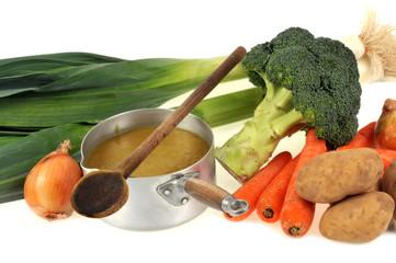 La soupe gourmande de légumes