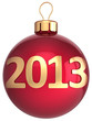 Christmas ball 2013 New Year bauble lucky calendar date