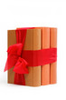 Book as a gift. A stack of books on a white background.