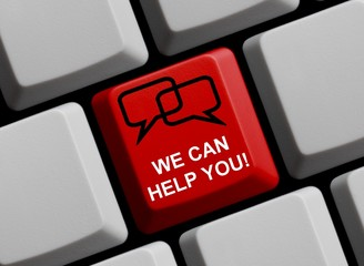 We can help you! Online Hilfe