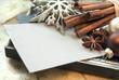Blanko Weihnachtskarte oder Gutschein