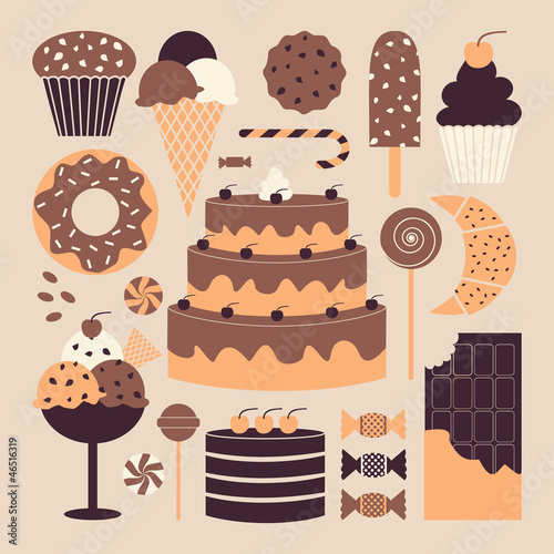 Dessert Icons Collection