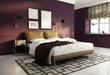 Elegant dark red luxury  bedroom. contemporary paris style